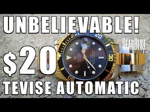 Astounding $20! Tevise T801A Automatic Watch Review c/o GearBest - Perth WAtch #115