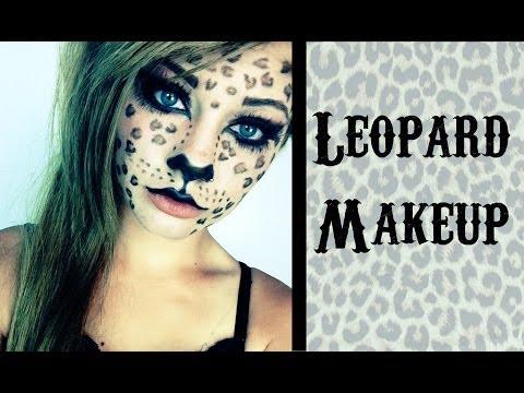 leoparden make up bodypaint doovi. Black Bedroom Furniture Sets. Home Design Ideas