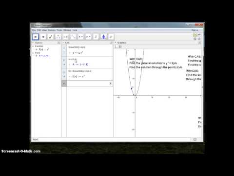 GeoGebra Introduction Diff equation - YouTube