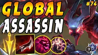 GLOBAL Assassin Nocturne with CDR + Ult Hunter + PoM = Constant Ults!   Iron IV to Diamond Ep #74