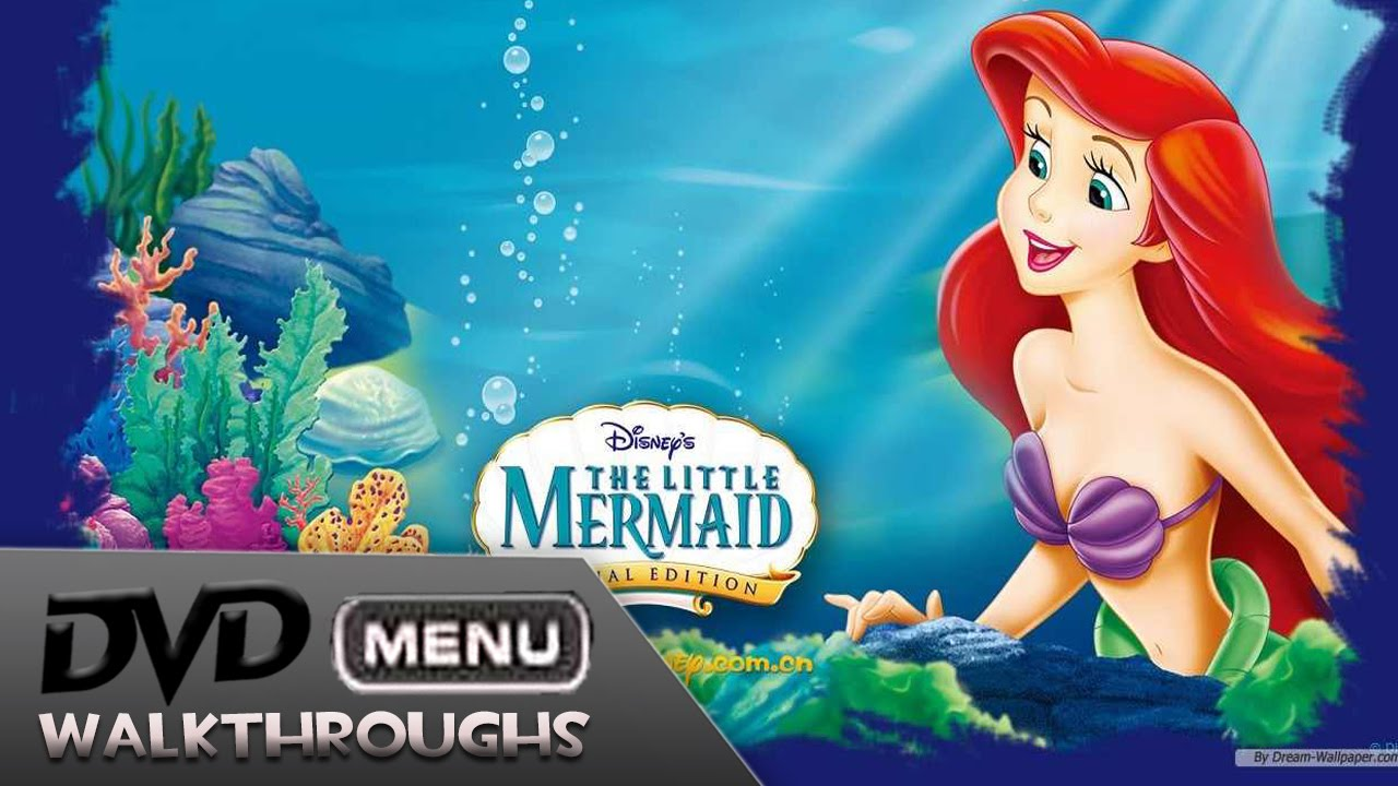 the little mermaid 1989 2013 dvd menu walkthrough youtube