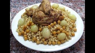 المغربيه بالدجاج والمفتول - اكله ولا اشهى