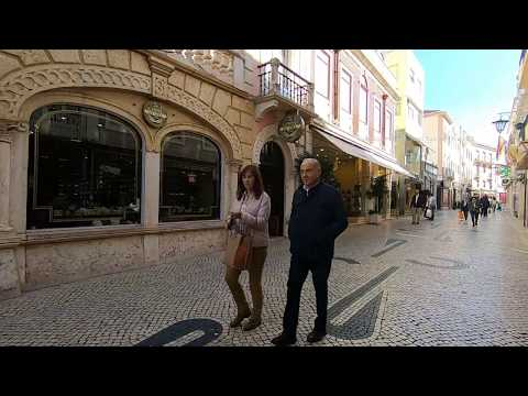 Walk to Caldas Da Rainha  Market in Portugal