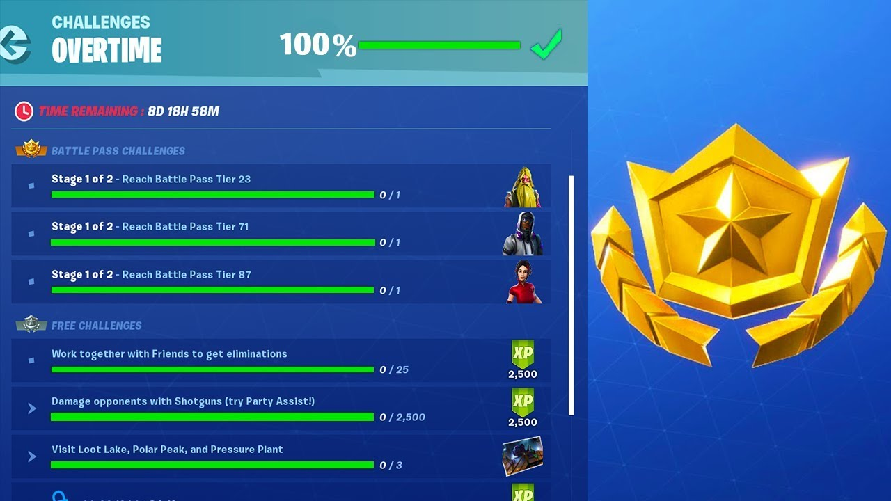 HOW TO COMPLETE OVERTIME CHALLENGES in FORTNITE SEASON 9 ...