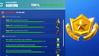 HOW TO COMPLETE OVERTIME CHALLENGES in FORTNITE SEASON 9! (FREE REWARDS)