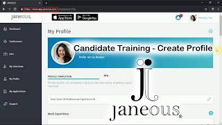 Janeous Candidate - Create Profile
