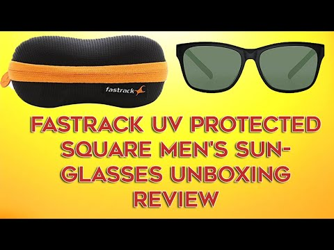 Fastrack UV protected Square Men's Sunglasses (P357BK1 )Smoke (Grey/Black) Unboxing Review