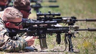 Marines Train On The New M38 Marksman Rifle