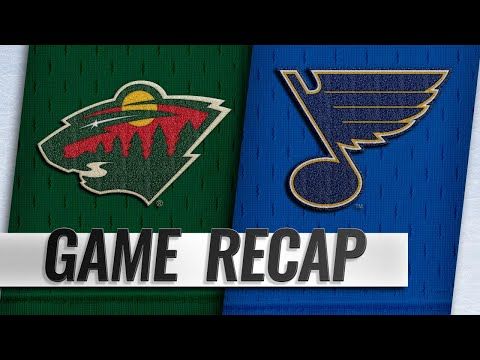 Staal scores 400th NHL goal as Wild defeat Blues