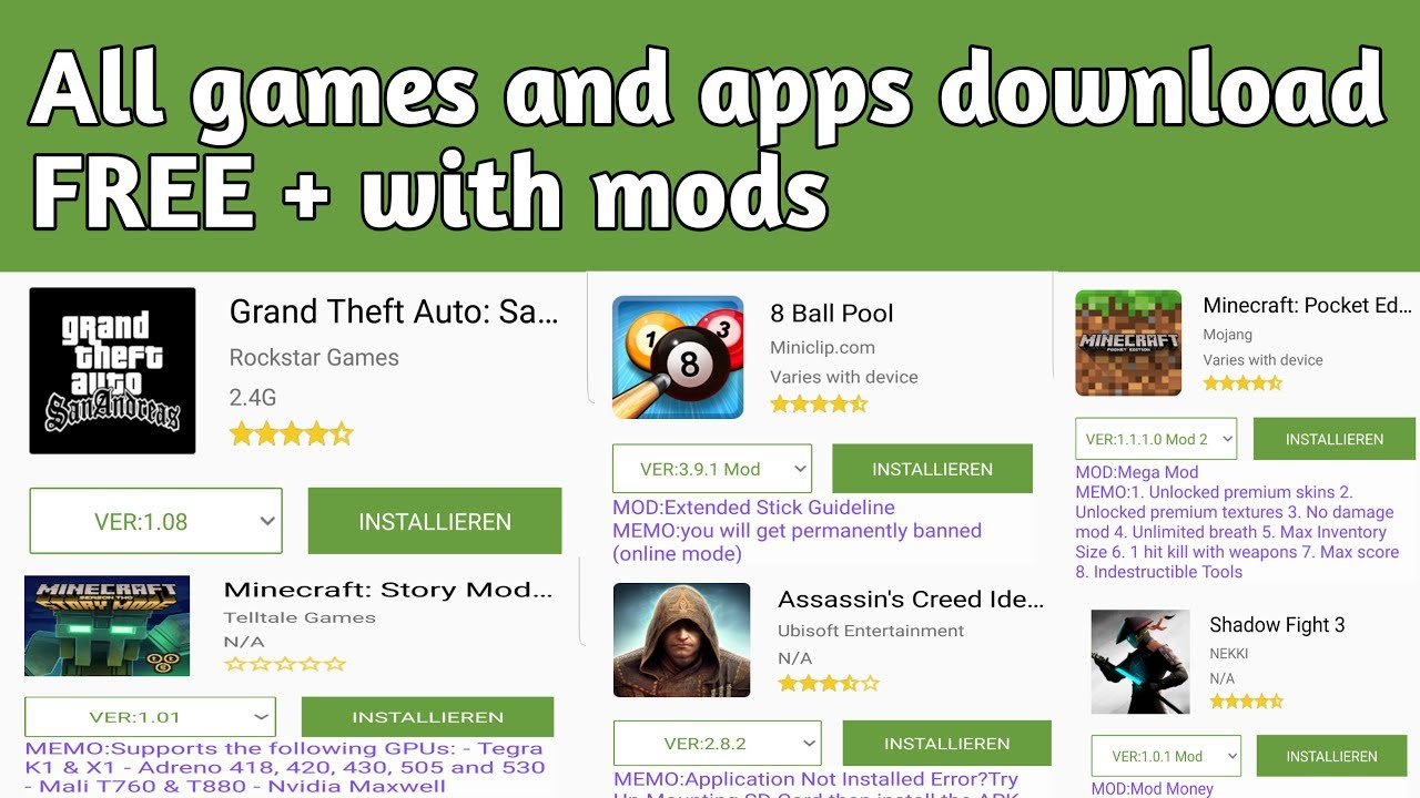Mods Of Apk - Download Modded Apps And Games