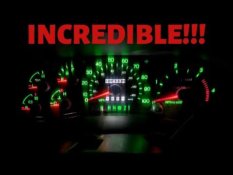 Ford Superduty Dash Light Replacement: LED Swap