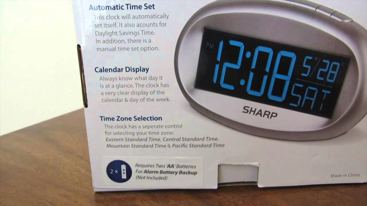 Review of the Sharp SPC079 Automatic Time Set Alarm Clock