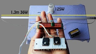 How to make invertor circuit 12V 125W for fluorescent lamps - Fluorescent lamp  12V DC Circuit