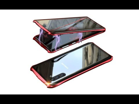 Magnetic Case 360 Front+Back 9H Tempered Glass Case For Galaxy Note 10 Plus - UNBOXING