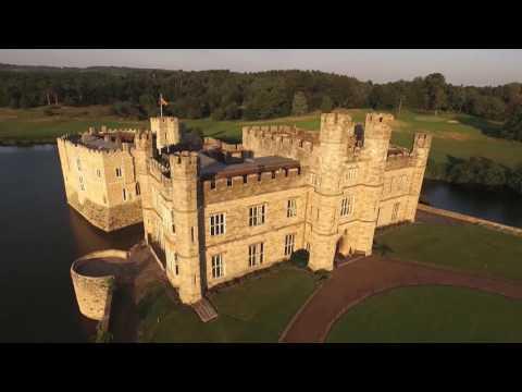 Stunning aerial footage of Leeds Castle