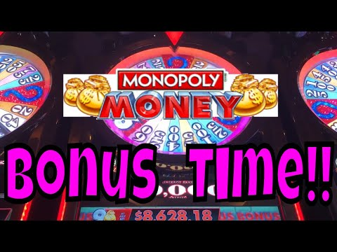 Monopoly Money Slots BONUS (Live Play 2018)