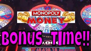 Monopoly Money Slots BONUS (Live Play 2018)