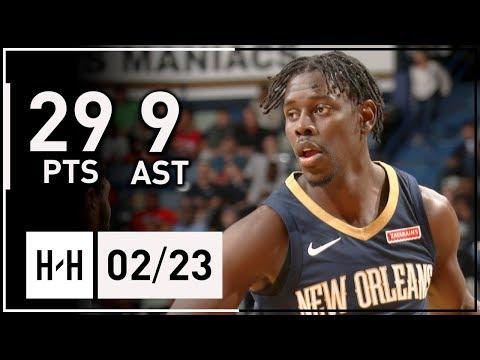 Jrue Holiday Full Highlights Pelicans vs Heat (2018.02.23) - 29 Pts, 9 Ast, GAME-WINNER!