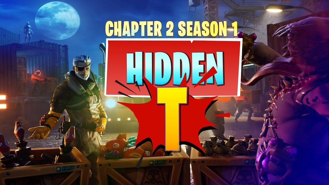 Fortnite Chapter 2 Hidden T Location In Loading Screen Battle Star Replacement Season 1
