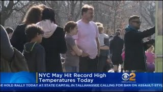 NYC May Hit Record High Temperatures Today