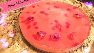 鮮花鏡面果凍慕斯蛋糕(Jello Mousse Cake)