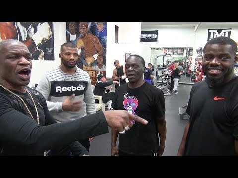 Floyd Mayweather, Badou Jack, Jeff Mayweather & Andrew Tabiti have a speed contest. Hilarity ensues