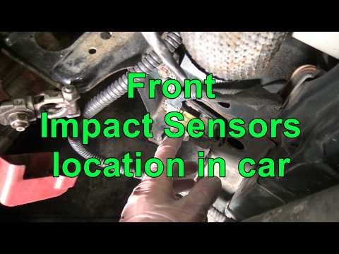 Front Airbag impact sensors location in car - YouTube