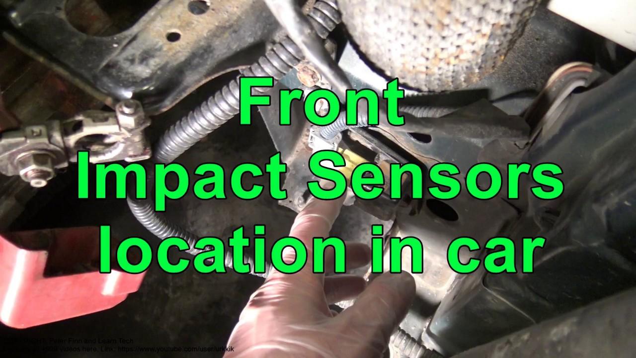 medium resolution of front airbag impact sensors location in car