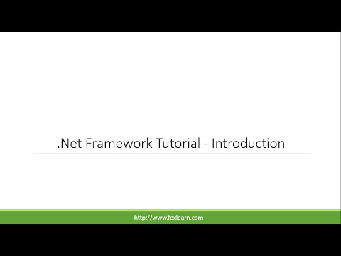 .Net Framework Tutorial - Introduction