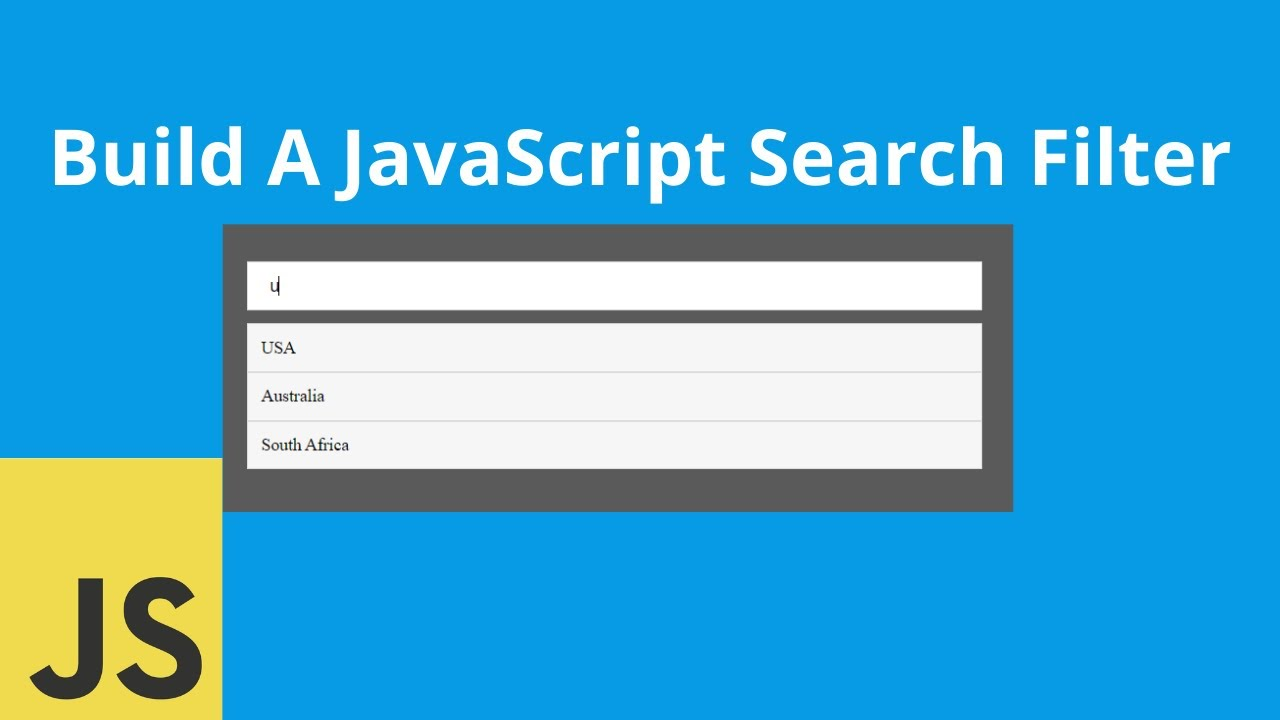 Build a Javascript Search Filter | No Page Reload