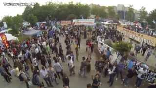 Парк Таксим Гези. Вертолетная и съемка от первого лица [HD]