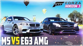 FORZA HORIZON 3 - BMW M5 VS MERCEDES-BENZ E63S AMG!