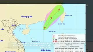 Tin mới nhất trong ngày hôm nay- DB mới nhất về áp thấp nhiệt đới đang hoạt động trên Biển Đông