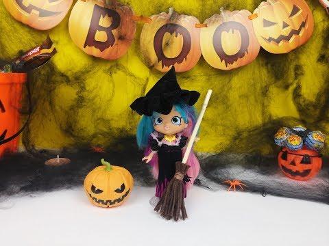 Шопкинс Хэллоуин делаем светящуюся тыкву-Шопкинс, раскрашиваем фигурки