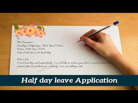 Write An Application To Your Principal Asking For Her Permission To Go Home In The Break.