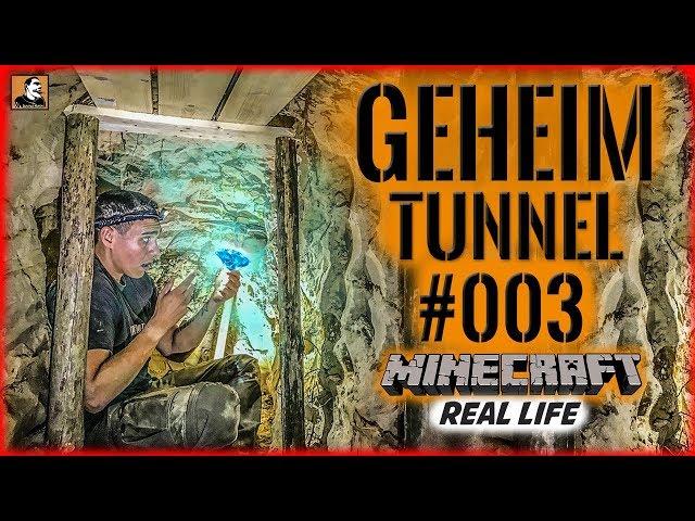 """Survival Mattin"" baut GEHEIMTUNNEL #003 | MINECRAFT Real Life | BUSHCRAFT CAMP SHELTER ÜBERNACHTUNG"