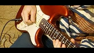 Fender Custom Shop Fat 60's pickups sound test, jamming with MP3 music box player and BOSS Katana