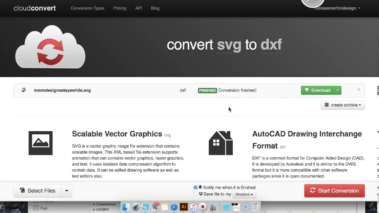 Convert Any SVG into a DXF without Inkscape or Designer Edition