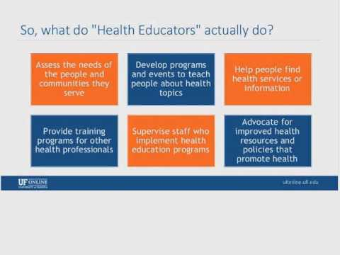 Webinar: Bachelor of Science in Health Education, Feb 24, 2015