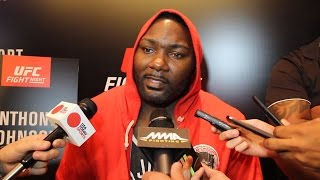 Anthony Johnson UFC Fight Night 77 Media Day Scrum
