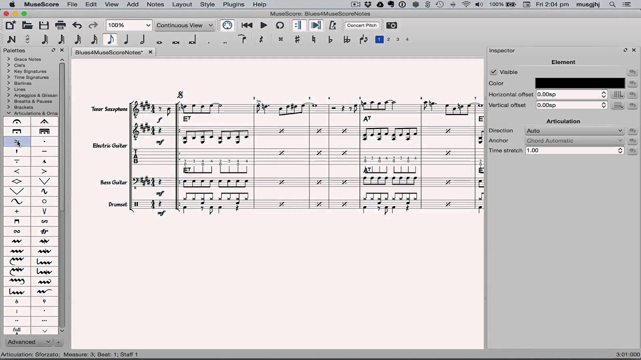 musescore how to add text