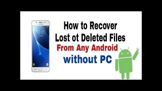 How to Recover Delete File ( Photo , Videos , Apk File etc...)