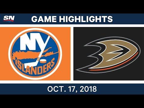 NHL Highlights | Islanders vs. Ducks - Oct. 17, 2018