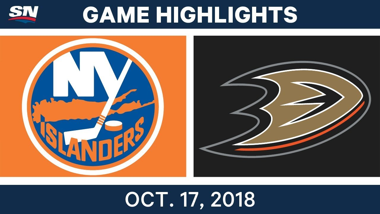 NHL Highlights | Islanders vs. Ducks - Oct. 17, 2018