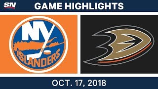 NHL Highlights   Islanders vs. Ducks - Oct. 17, 2018