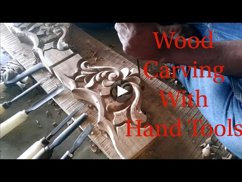 Wood carving with hand tools