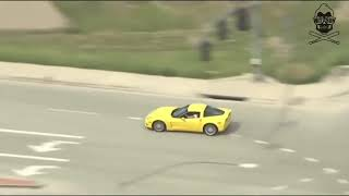 Police Chase Corvette Pursuit Ends in Hard Crash 2017