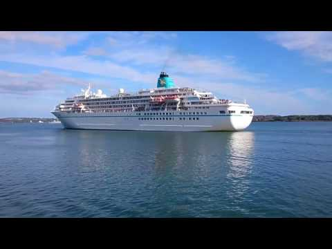 Amadea cruise ship leaving the Port of Cobh in county Cork Ireland