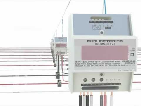 EKM Metering's Omnimeters Daisy Chained And Connected To An Ethernet Network