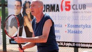Mecz tenisa: J�drzej Nowak - Grzegorz Prot